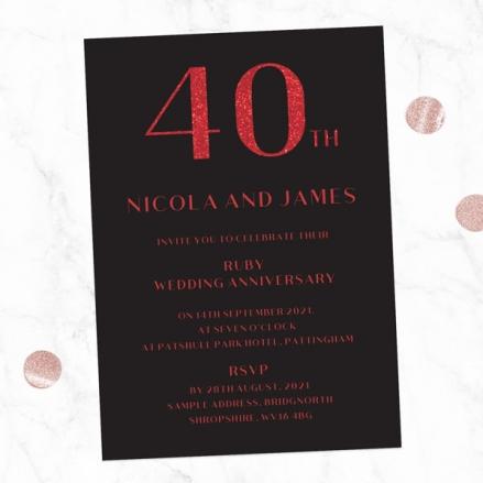 40th-Wedding-Anniversary-Invitations-Glitter-Effect-Typography