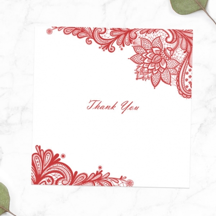 40th Anniversary Thank You Cards - Victorian Lace