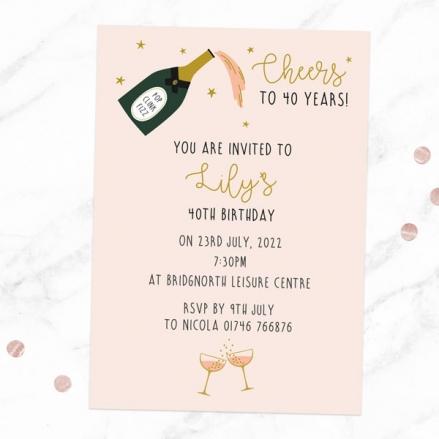 40th-birthday-invitations-champagne-blush
