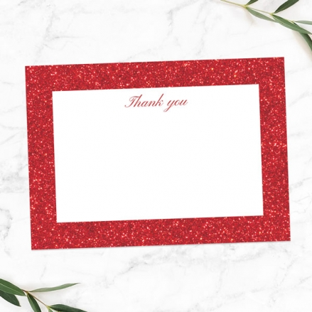 40th-Anniversary-Thank-You-Cards-Simple-Glitter-Effect
