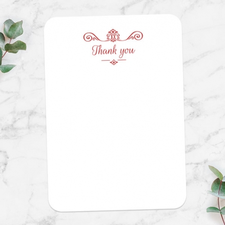 40th Anniversary Thank You Cards - Ornate Scroll Photo