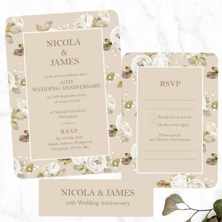 50th-Wedding-Anniversary-Invitations-Vintage-Cream-Roses