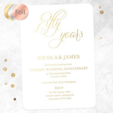 50th-Foil-Wedding-Anniversary-Invitations-Elegant-Script
