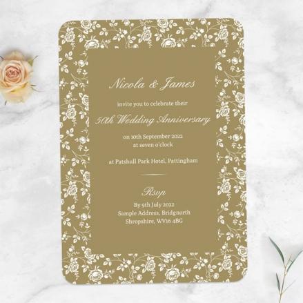50th-Wedding-Anniversary-Invitations-Delicate-Rose-Pattern