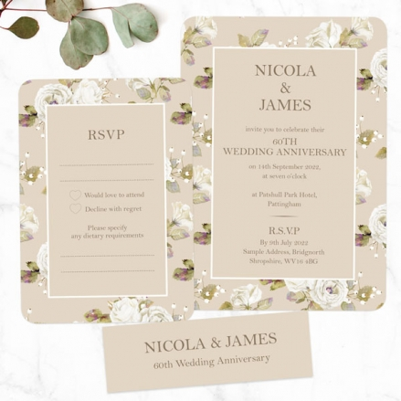 60th-Wedding-Anniversary-Invitations-Vintage-Cream-Roses