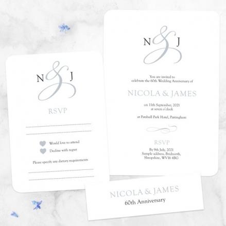 60th-Wedding-Anniversary-Invitations-Classic-Monogram