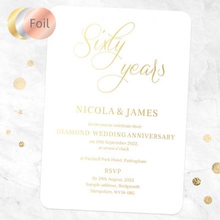 60th-Foil-Wedding-Anniversary-Invitations-Elegant-Script