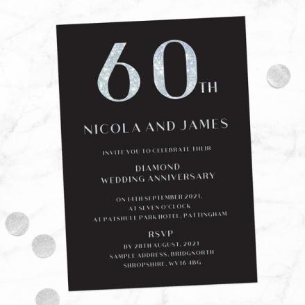 60th-Wedding-Anniversary-Invitations-Glitter-Effect-Typography