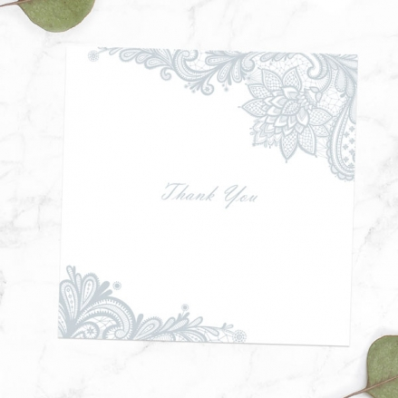 60th Anniversary Thank You Cards - Victorian Lace