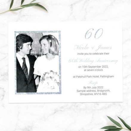60th-Wedding-Anniversary-Invitations-Simple-Glitter-Effect
