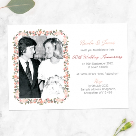 60th-Wedding-Anniversary-Invitations-Peach-Rose-Border