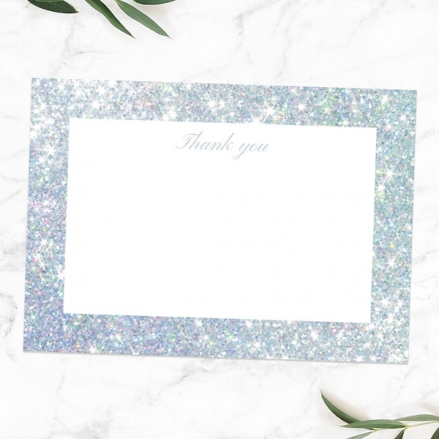 60th Anniversary Thank You Cards - Simple Glitter Effect