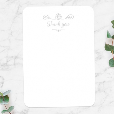 60th Anniversary Thank You Cards - Ornate Scroll Photo