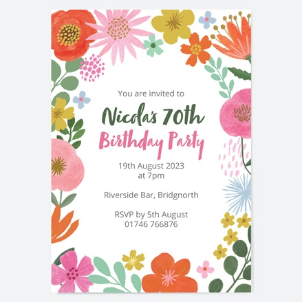 70th-birthday-invitations-beautiful-blooms-flowers-birthday-party