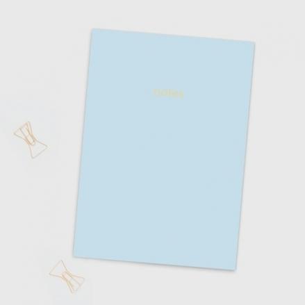 Light Blue - A5 Colourblock Notebook