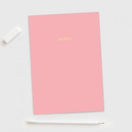 Light Pink - A5 Colourblock Notebook