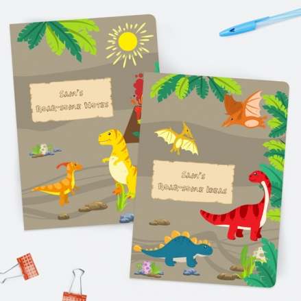Dinosaur-World-Personalised-A5-Exercise-Books-Pack-of-2