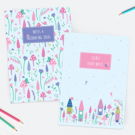 Fairy Garden - A5 Exercise Books - Pack of 2