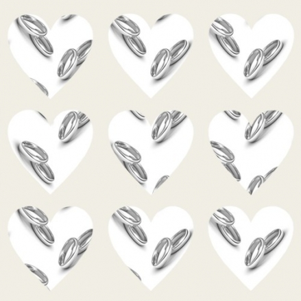 Silver Rings - Heart Table Confetti