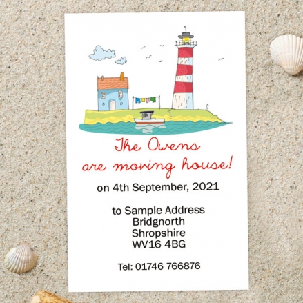 Address Cards - By The Coast - Pack of 10