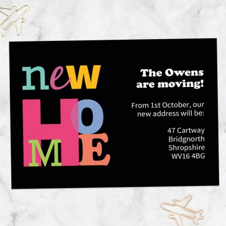 Address Cards - Colourful Typography - Pack of 10