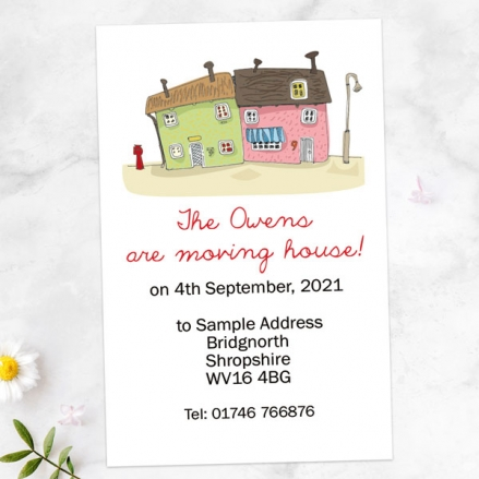 Address Cards - Cute Town House - Pack of 10