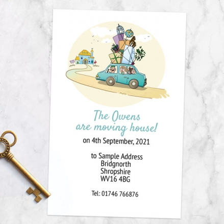Address Cards - Loaded Car - Pack of 10