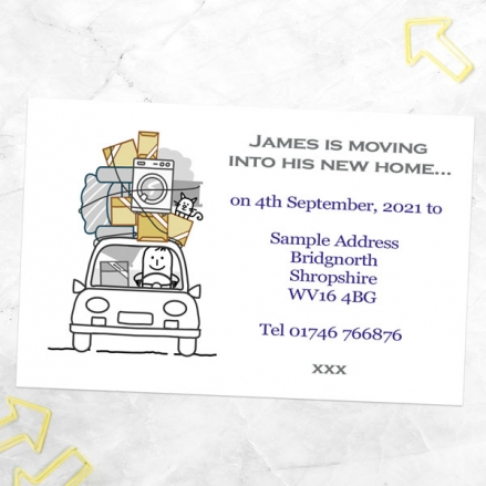 Address Cards - Moving Home - Pack of 10