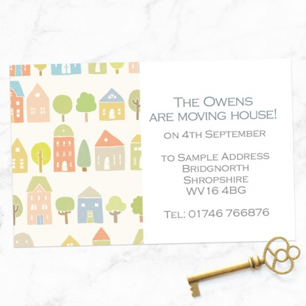 Address Cards - Pastel Houses - Pack of 10