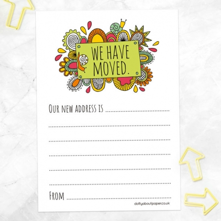 Address Cards - Abstract Pattern - Pack of 10
