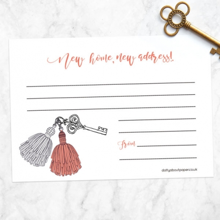 Address Cards - Pom Pom Keyring - Pack of 10