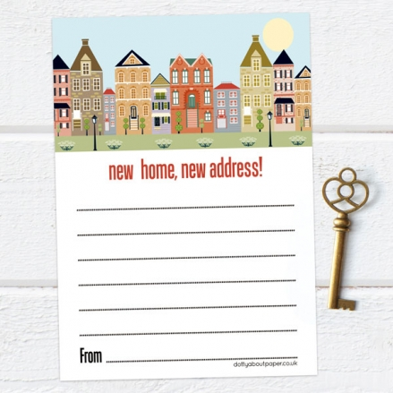 Address Cards - Town Houses - Pack of 10