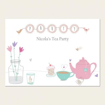 Tea Party Invitations - Afternoon Tea