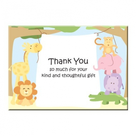 Ready to Write Thank You Cards - Animal Banner - Pack of 10
