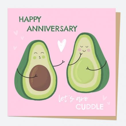 Anniversary Card - Avocado - Let's Avo-Cuddle