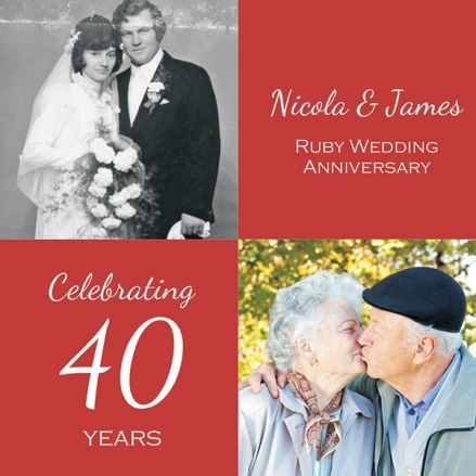40th Wedding Anniversary Invitations - Use Your Own Photo