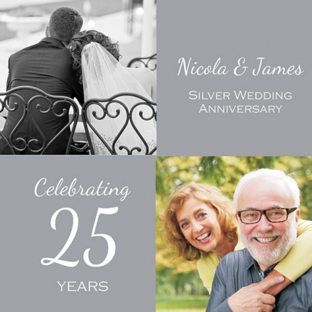 25th Wedding Anniversary Invitations - Use Your Own Photo