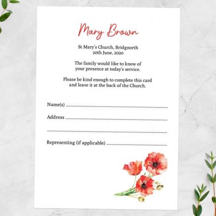 Funeral-Attendance-Cards-Poppy-Garland-Photo