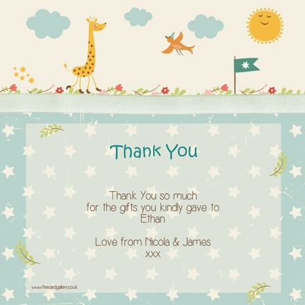 Thank You - Vintage Giraffe - Postcard - Pack of 10