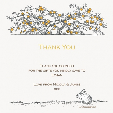 Thank You - Tree & Rabbit - Postcard - Pack of 10
