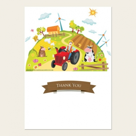 Thank You - Farm Scene - A6 Postcard - Pack of 10