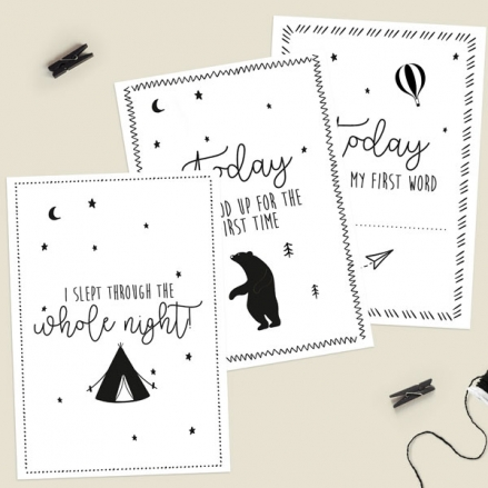 Baby-Milestone-Cards-Phrases-Pack-of-12-The Adventure-Begins