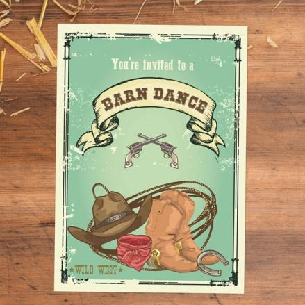 Party Invitations - Barn Dance