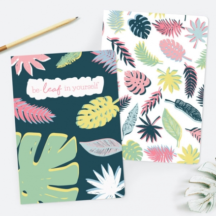 Be-Leaf In Yourself - A5 Exercise Books - Pack of 2