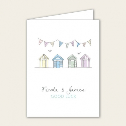 Bunting & Beach Huts - Lottery Ticket Holder