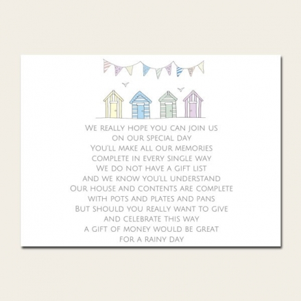 Bunting & Beach Huts - Gift Poem Cards
