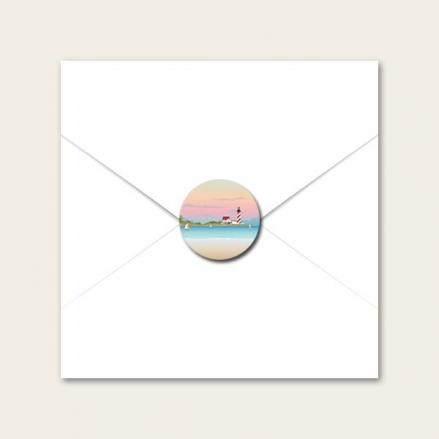 Coastal Scene - Wedding Envelope Seals
