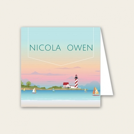 Coastal Scene - Wedding Place Cards