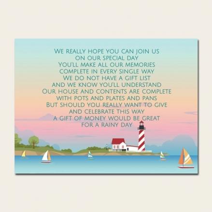Coastal Scene - Gift Poem Cards