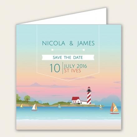 Coastal Scene - Save the Date Cards